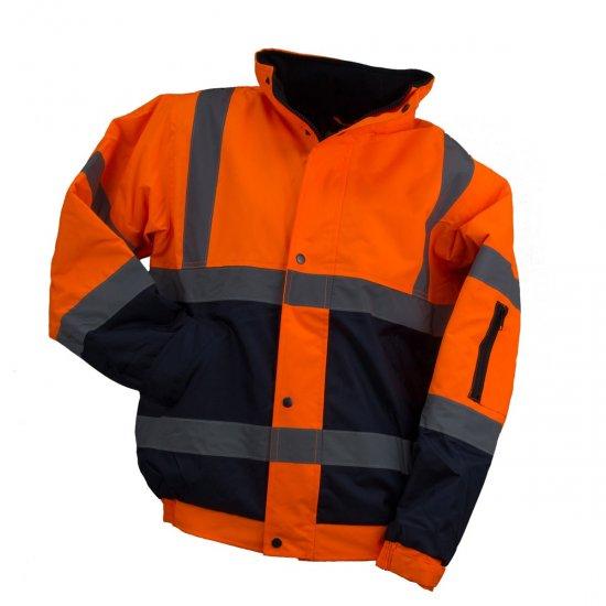 Striukė pašiltinta signalinė Urgent BOMBER HSV, geltona, oranžinė Signaliniai drabužiai