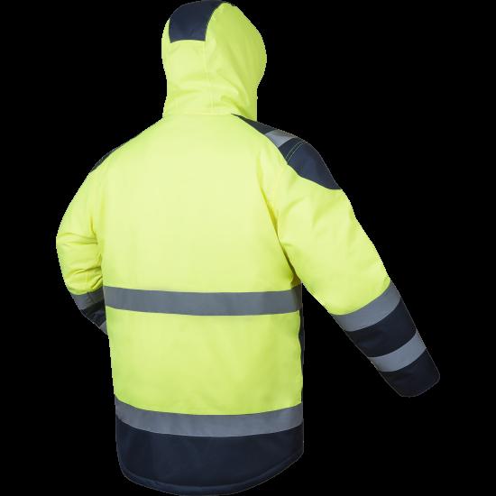 Striukė šilta KAUKAZ HI-VIZ geltona Signaliniai drabužiai