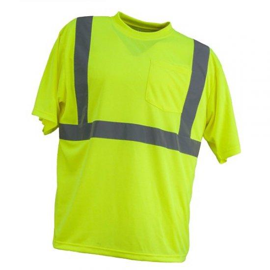 Marškinėliai signaliniai URG-HV-PAM-PB23 geltoni Signaliniai drabužiai